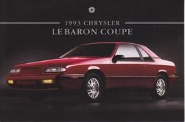 Le Baron Highline Coupe, US postcard, continental size, 1993