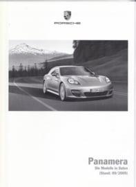 Panamera pricelist, 100 pages, 09/2009, German