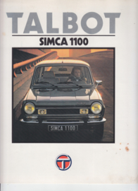 Simca 1100, 4 large square pages, Dutch language, 9/79 (Belgium)