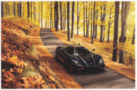 Agera RS, A6-size postcard, factory-issued, English text, 2015