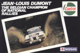 Rally car with Jean-Louis Dumont,  A6-size postcard, about 1983, Dutch/French (Belgium)