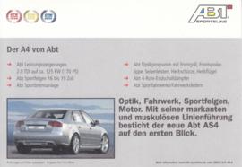 A4 Sedan ABT Tuning postcard, A6-size, German language