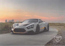 Zenvo TS1 sports car, A5-size postcard, factory-issued, 2018, month: October