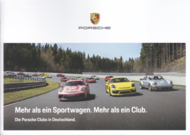 Porsche Clubs in Germany brochure, 16 pages, 08/2018, German