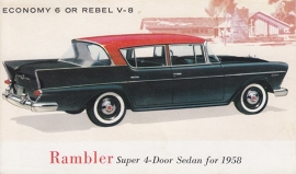 Super 4-Door Sedan, US postcard, standard size, 1958, # AM-58-6516 B