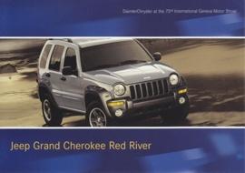 Jeep Grand (?) Cherokee Red River, A6-size postcard, Geneva 2003