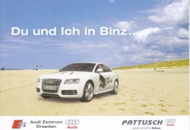 A5 Coupe by Audi dealer in Dresden, DIN A6 postcard, German language, 2007
