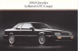 Le Baron GTC Coupe, US postcard, continental size, 1992