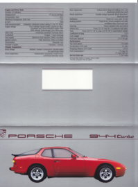 944 Turbo brochure, 6 pages, 1987, English (USA)