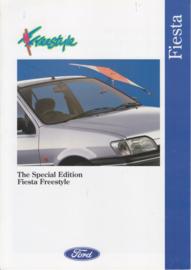Fiesta Freestyle brochure, 6 pages, 10/1993, English language, UK