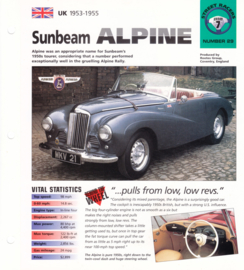 Sunbeam Alpine 1953-55 folder, 4 pages, number 29, Hot Cars series, # 12028
