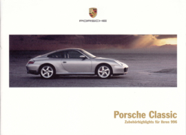 Classic 996 accessories brochure, 16 pages, 07/17, German