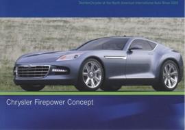 Chrysler Firepower Concept, A6-size postcard, NAIAS 2005