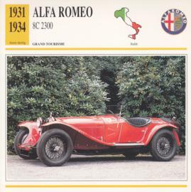 Alfa Romeo 8C 2300 card, Dutch language, D5 019 01-18