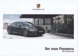 Panamera new model brochure, 144 pages, 06/2016, hard covers, German