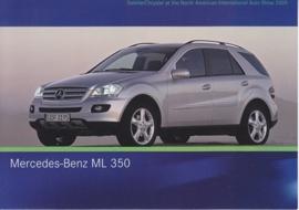 Mercedes-Benz ML 350, A6-size postcard, NAIAS 2005