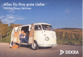 Transporter T1 about 1966, A6-size postcard, issue Dekra, German, 2015