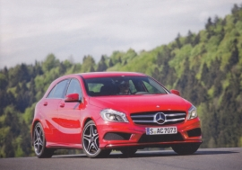 A-Class hatchback, A6-size postcard, Mercedes-Fan World # 02/2012, German