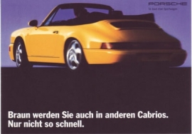 911 Carrera Cabriolet postcard, DIN A6 size, factory-issue, about 1993