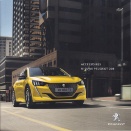 208 Hatchback accessories brochure, 12 pages, Dutch language, 05/2019