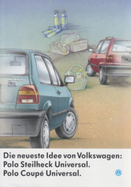 Polo Universal brochure, 8 pages,  A4-size, German language, 02/1992