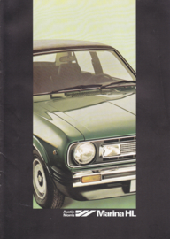 Marina HL 4-Door Sedan brochure, 8 pages, A4-size, 1979, Dutch language