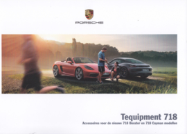 718 Boxster & Cayman tequipment brochure,  56 pages, 02/2016, Dutch language