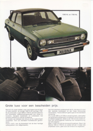 Marina HL 4-Door Sedan leaflet, 2 pages, A4-size, 1979, Dutch language
