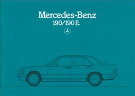 190/190E brochure, 30 pages, 08/1983, German language