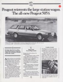 505 Sedan & Wagon folder, 4 pages, letter-size, USA, 1984, English language