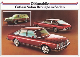 Cutlass Brougham models 1979, 2 pages, export, Dutch language