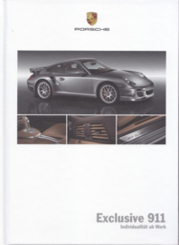 911 Exclusive brochure, 56 pages, 04/2009, hard covers, German