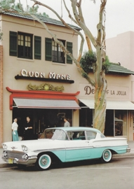 Biscayne 1958, A6 size postcard, 100 years of Chevrolet by GM Europe, 2011