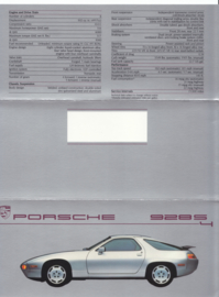928 S4 brochure, 6 pages, 1987, English (USA)