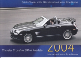 Chrysler Crossfire SRT-6 Roadster, A6-size postcard, Geneva 2004