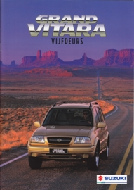 Grand Vitara 5-Door brochure, 24 pages, #81098, 1999, Dutch language