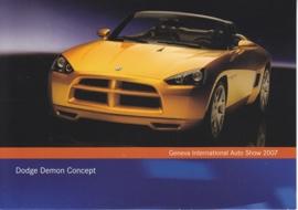 Dodge Demon Concept, A6-size postcard, Geneva 2007
