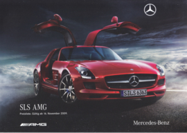 SLS AMG sportscar pricelist brochure, 24 pages, 11/2009, German language