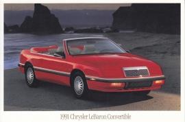Le Baron Convertible, US postcard, continental size, 1991