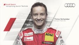 Racing driver Timo Scheider, postcard 2011 season, German language