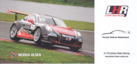 911 Carrera Cup with driver Dennis Olsen, oblong postcard, issued about 2016