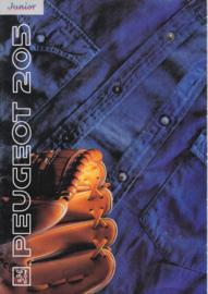 205 Junior brochure, 8 pages, A4-size, 1991, Dutch language