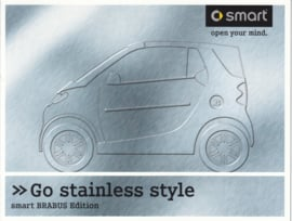 Fortwo Brabus edition stainless style brochure, 6 pages, 05/2004, Dutch language