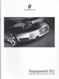 911 Tequipment (996) pricelist brochure, 40 pages, 10/2006, German
