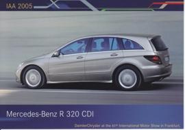 Mercedes-Benz R 320 CDI, A6-size postcard, IAA 2005