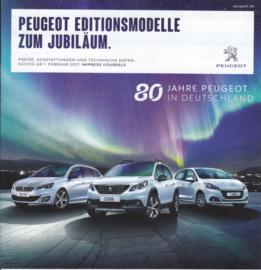 Edition Models pricelist brochure, 12 pages, German language, 02/2017