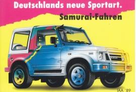 Samurai SJ Hardtop, DIN A6-size postcard, German language, 1989