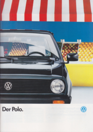 Polo brochure, A4-size, 40 pages, German language, 08/87