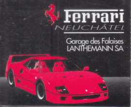 Mercedes-Benz 190 & Ferrari F40 match box, French language, Swiss