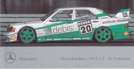 Mercedes-Benz Motorsport 190 E 2.5-16 Evolution, sticker, 8,5 x 15,5 cm